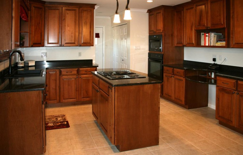 Wonderful Cherry Kitchen Cabinets with Black Countertops 936 x 595 · 108 kB · jpeg