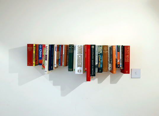 Furniture: Amazing Invisible Bookshelf Designs In Simple Shaped ...