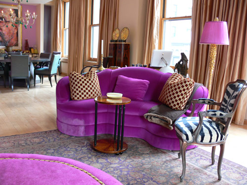 403 forbidden Purple living room decor