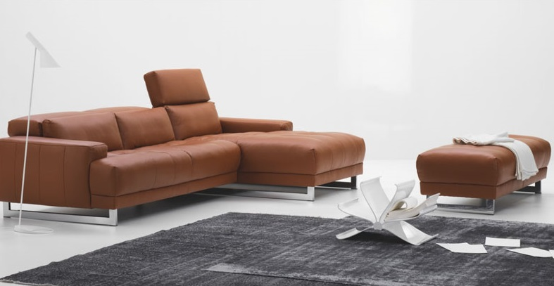 Furniture: Awesome Brown Color Contemporary Artistic Schillig Sofa ...