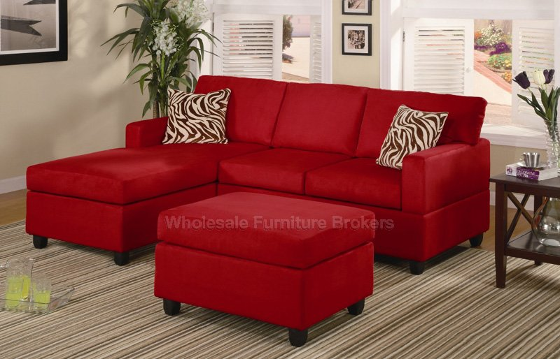 Awesome Zebra Room Decor : Red Sectional Sofa