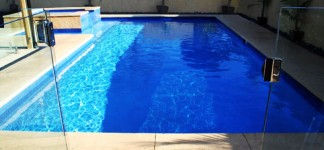 Pool fabulous modern style wooden lounge swimming pool melbourne equipped with small lawn area for Small swimming pools melbourne
