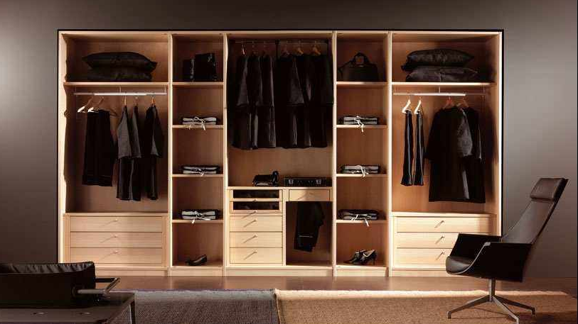 Wooden Wardrobe Styles : ... Style Wooden Closet Storage Wardrobe Design Made From Wooden Material