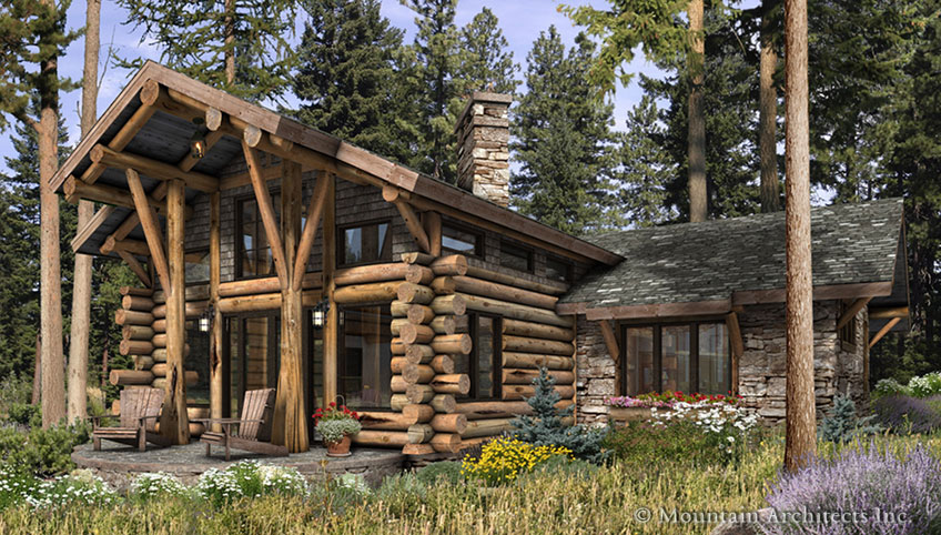Large Luxury Log Home Plans For Rustic House Concept Exterior Design