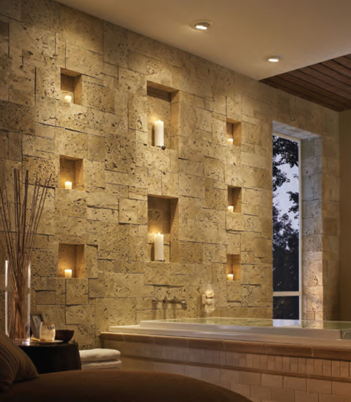 Interior Home: Beautiful Interior Stone Veneer Natural Brown Stine ...