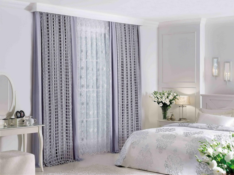 Home Furniture Elegant Curtain Ideas For Large Windows Designing