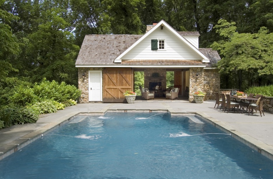 enchanting pool house designs for small space classic house design