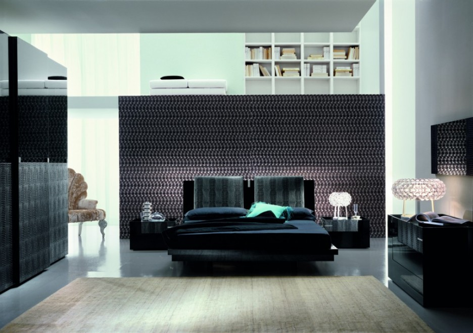 Furniture: Comfortable Bedroom Modern Italian Furniture With Black ...