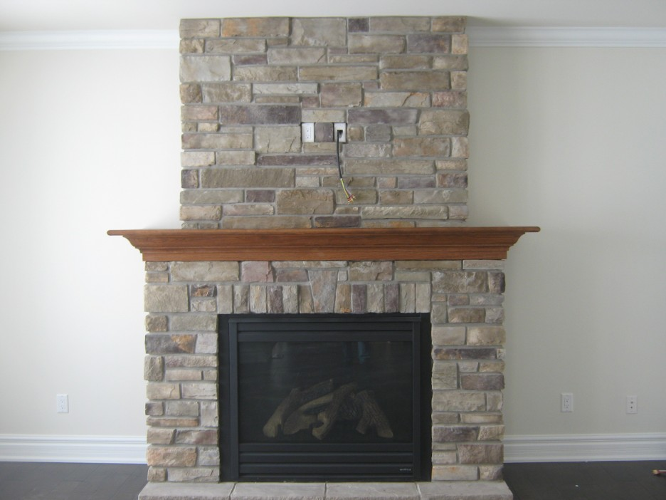 Stone Fireplace Design Providing Warmth For Living Room Custom Stone