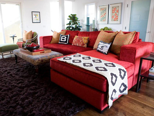 Interior design ideas architecture blog modern design Red black and white living room