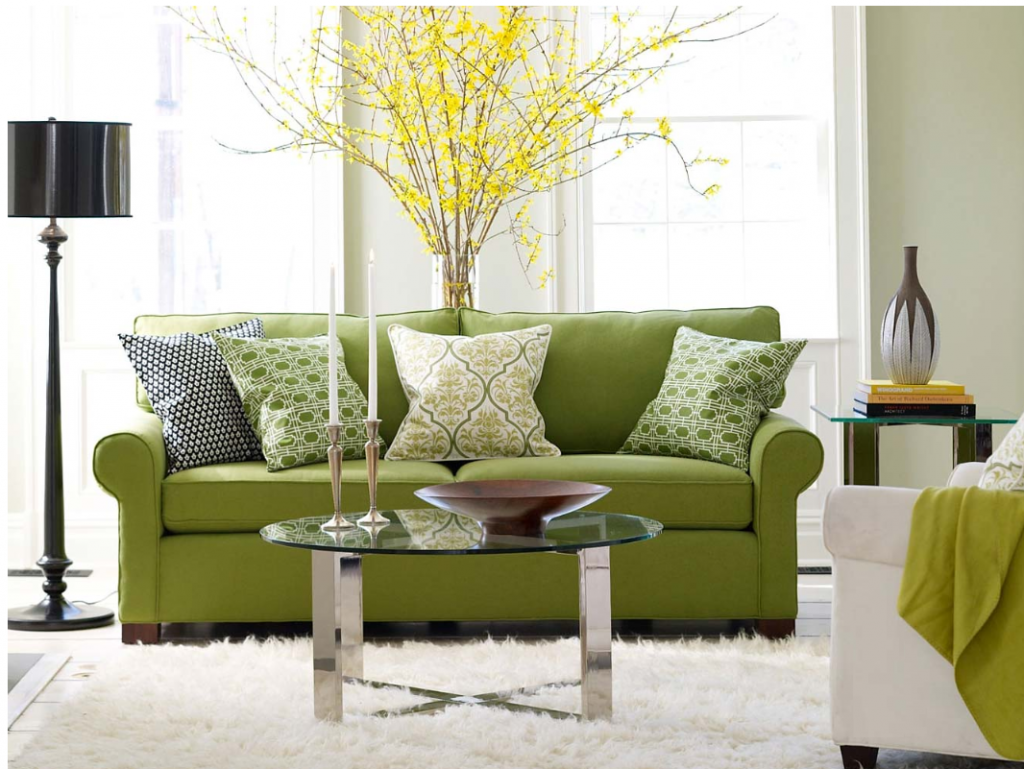 Awesome Green Sofas with Other Color Designs of Decoration Surrounding ...
