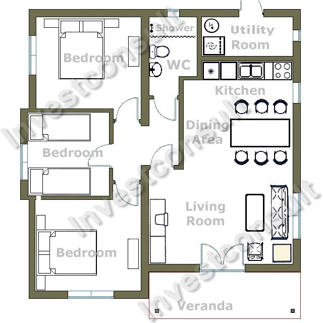 403 forbidden for Modern 2 bedroom apartment design