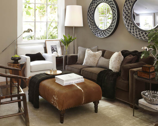Grey and brown living room modern diy art design collection for Grey and brown living room ideas