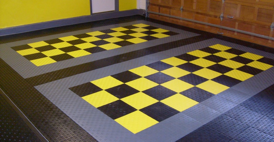Garage Floor Tiles Made From Best Material With Modern Interior Design