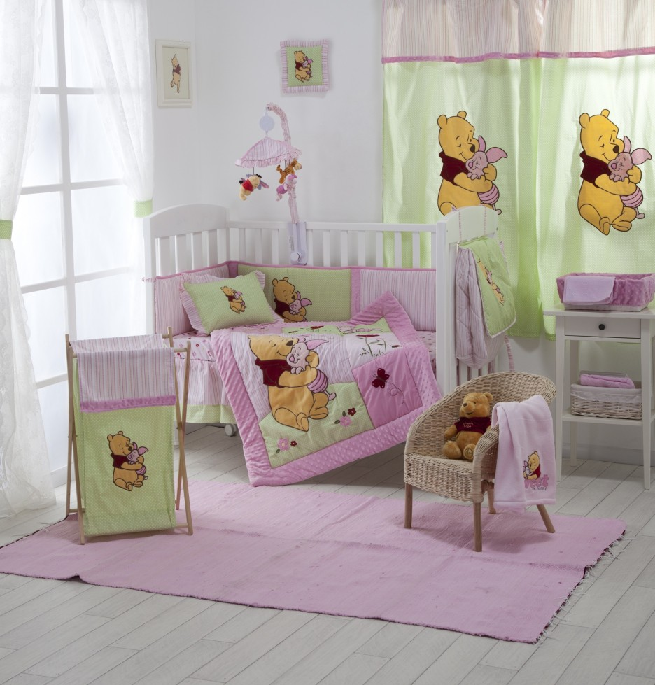 Light-Green-of-Curtain-Combined-with-Pink-Color-for-Winnie-the-Pooh ...