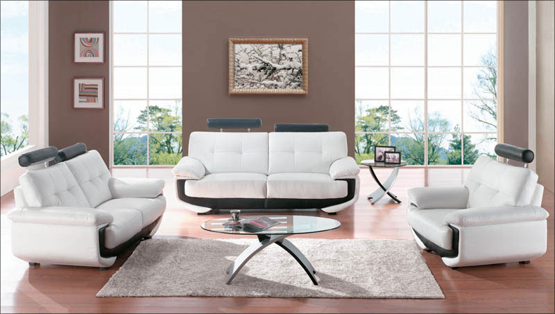 ... Affordable Modern Furniture Living Room With White Fabric Material