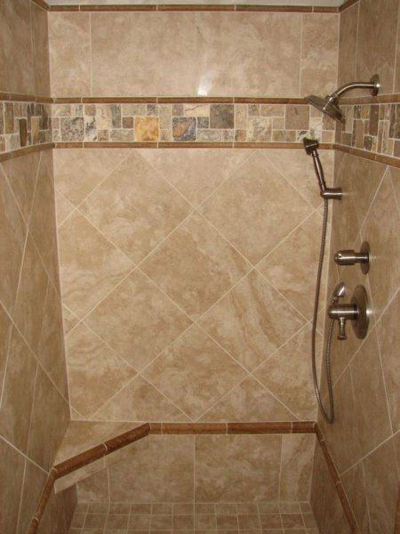 bathroom tiles ideas with beige color interior design for inspiration