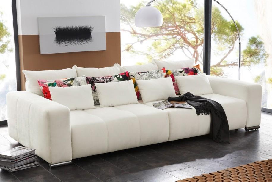 the sofa pillow combination in futuristic living room interior image