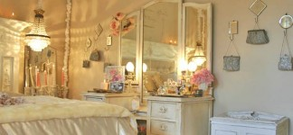 Alluring Shabby Chic Bedroom Ideas for Fanciful Interior: Marvelous Shabby Chic Bedroom Ideas White Artistic Furniture Design With White Cabinet Made From Wooden Material Pan