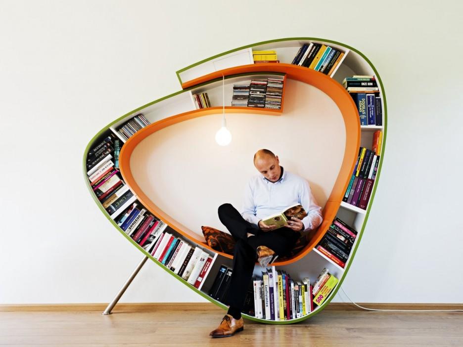 Furniture: Modern Bookcase Library Bookworm Bookshelf Designs