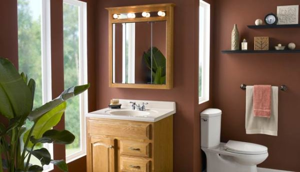 Lowes with Elegant Wooden Material » Natural Bathroom Vanity Lowes