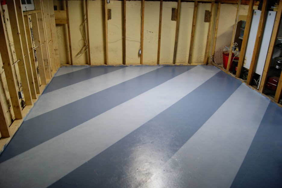 painting basement floor with color mix finished with best color made