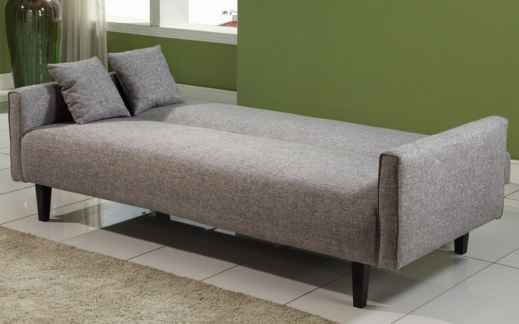 Furniture: Powerful Grey Fabric Cheap Sofa Beds Design Completed ...