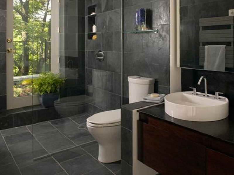 Bathroom: Powerful Small Bathroom Tile Ideas With Natural Stone ...