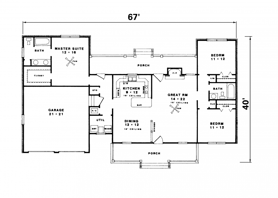Gallery For Simple Ranch House Plans