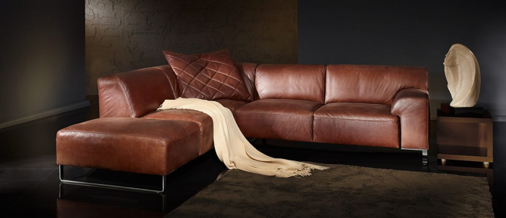 Furniture: Sensational Brown Schillig Sofa Design With L Shaped ...