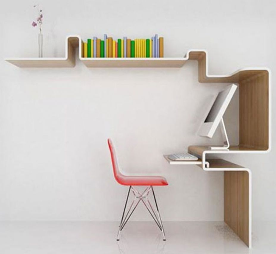 Simple wooden bookshelf design home design inside for Simple office furniture design