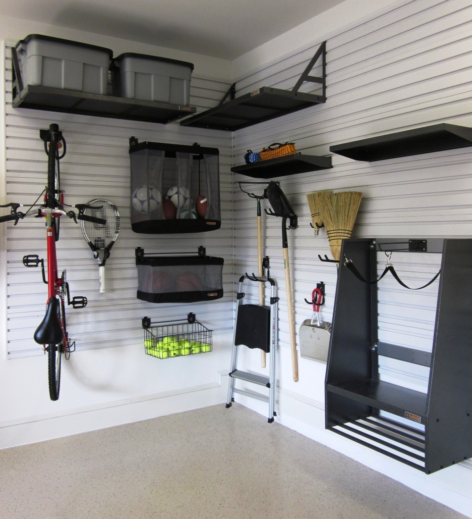 Modern Garage Storage Ideas Using Wooden Wall Shelf and Cabinet Design ...