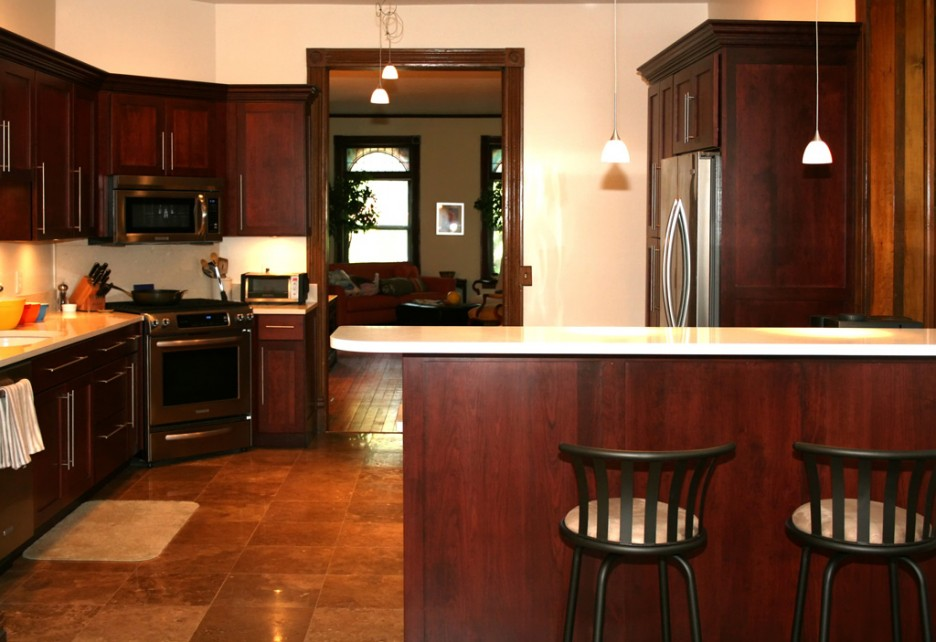 Striking Kitchen Cabinets Pictures On Tile Flooring Unit In Great Idea