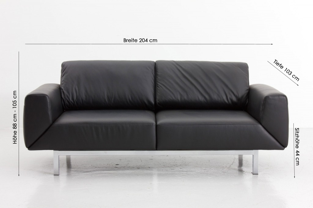 Furniture: Stunning Black Metal FRame Minimalist Style Schillig ...