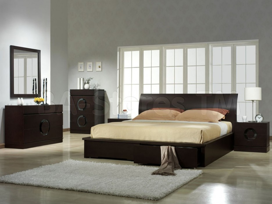 Bedroom design dark furniture home decoration live for Small bedroom furniture