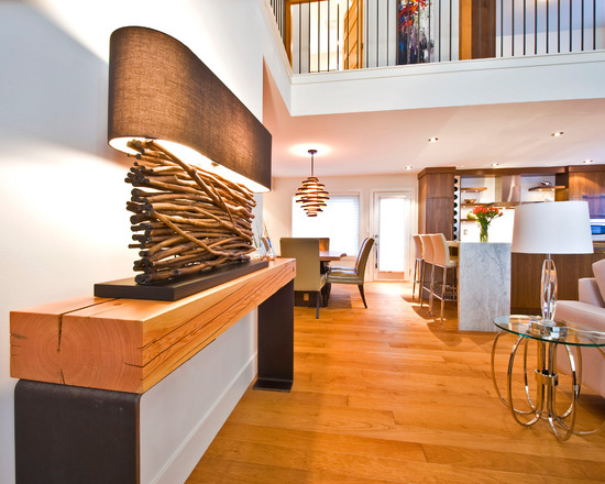Interior Home: Perfect Natural Wooden Interior Combined With White ...