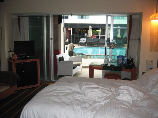 Hotel & Resort: Brilliant Bedroom Interior With Small Pool In ...