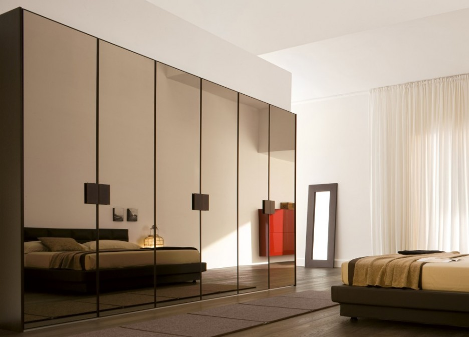 Furniture: Charming Wardrobe Designs With Mirrored Doors Modern ...