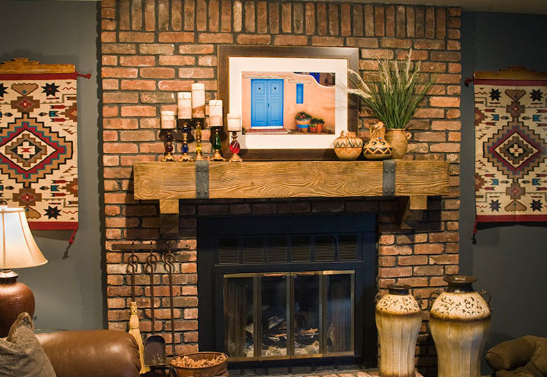 403 forbidden Brick fireplace wall decorating ideas