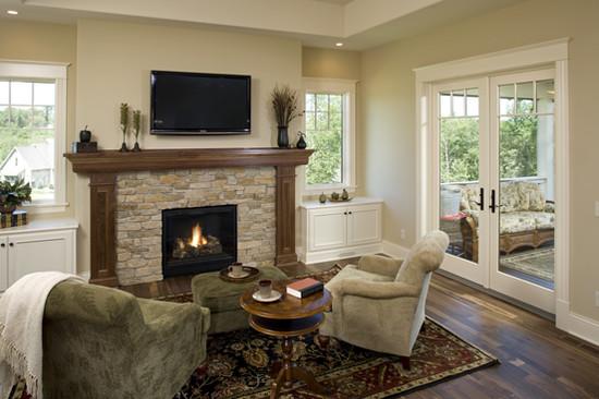 Interior design ideas architecture blog modern design for Prairie style fireplace