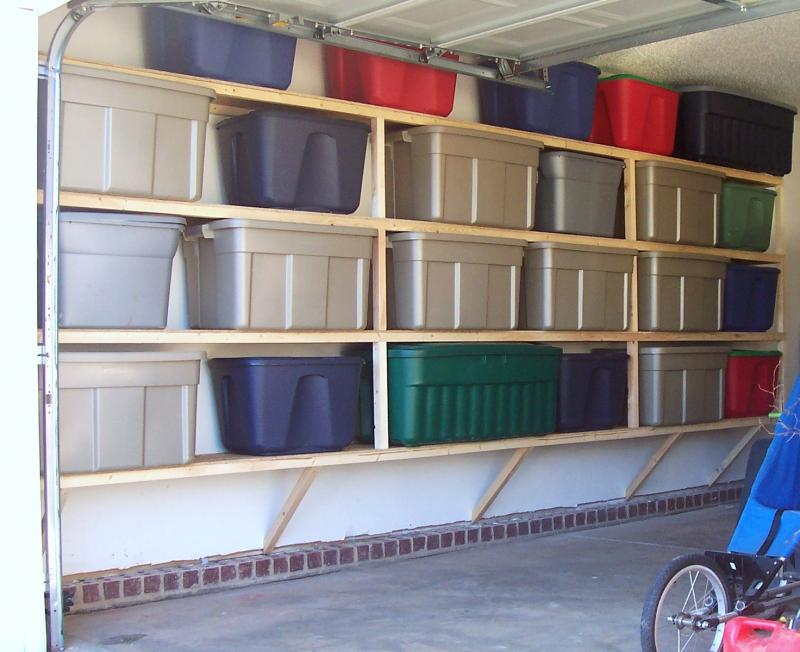 Simple wooden garage wall shelves pdf woodworking