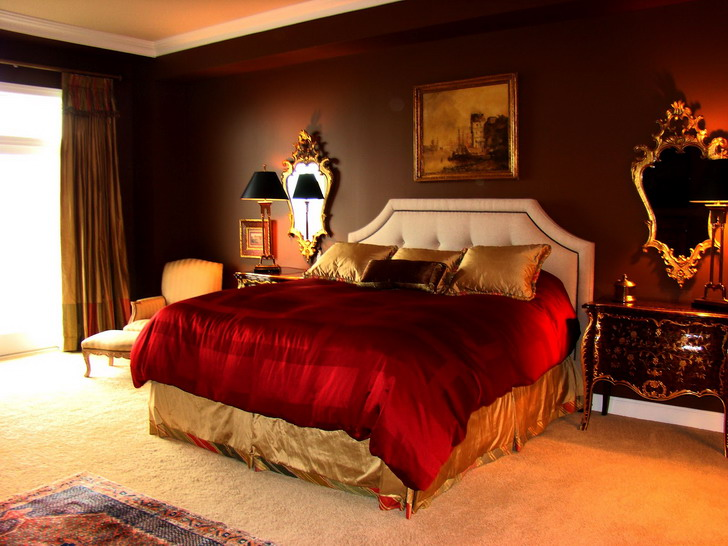 Color Scheme Comfortable Master Bedroom Paint Colors With Dark Brown