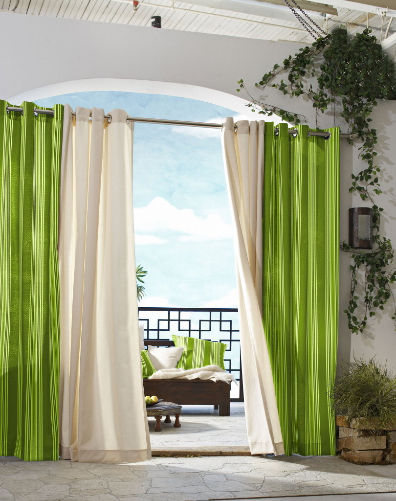 Curtain Ideas For Large Windows In Your Home Cream Green