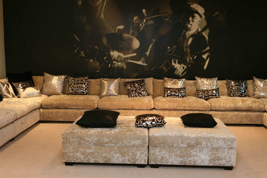 luxury sofas as interior design creates elegant room dark living room