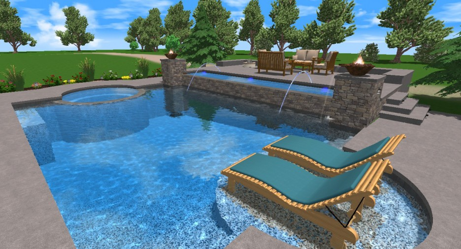 Interior design ideas architecture blog modern design for 3d swimming pool design