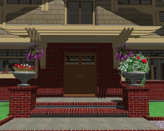 Exterior: Stylish Exterior Exposed Brick Plan Applied In Exterior ...