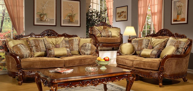 Elegant Living Room Interior Design With Classic Traditional Sofas