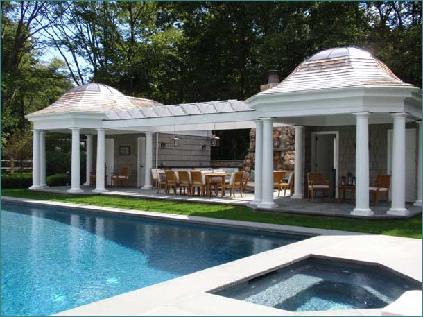 pool house designs with modern classic home design ideas completed