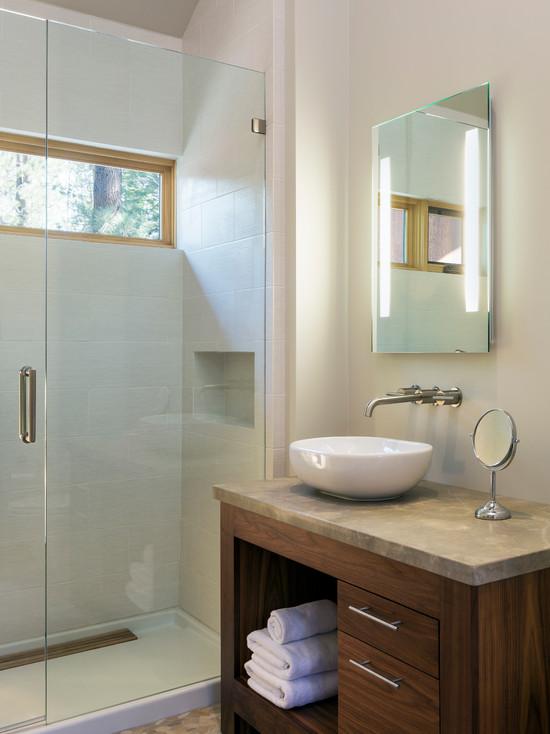Architecture: Fascinating Bathroom Design With Modern Backlit ...