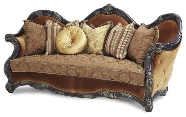 fascinating design of traditional sofas with various cushion designs